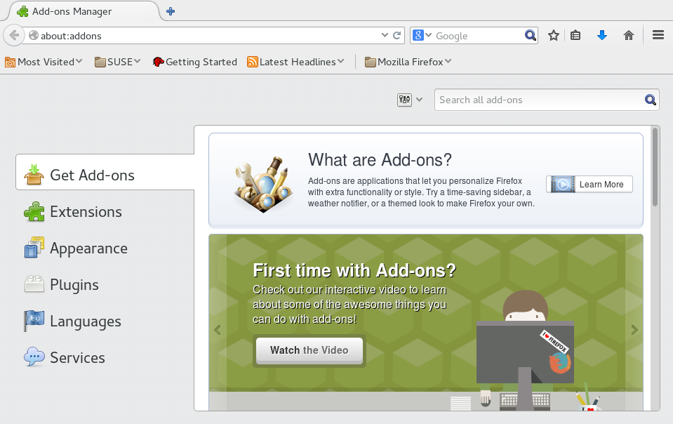Firefox: Browsing the Web   GNOME User Guide   openSUSE Leap 42 1