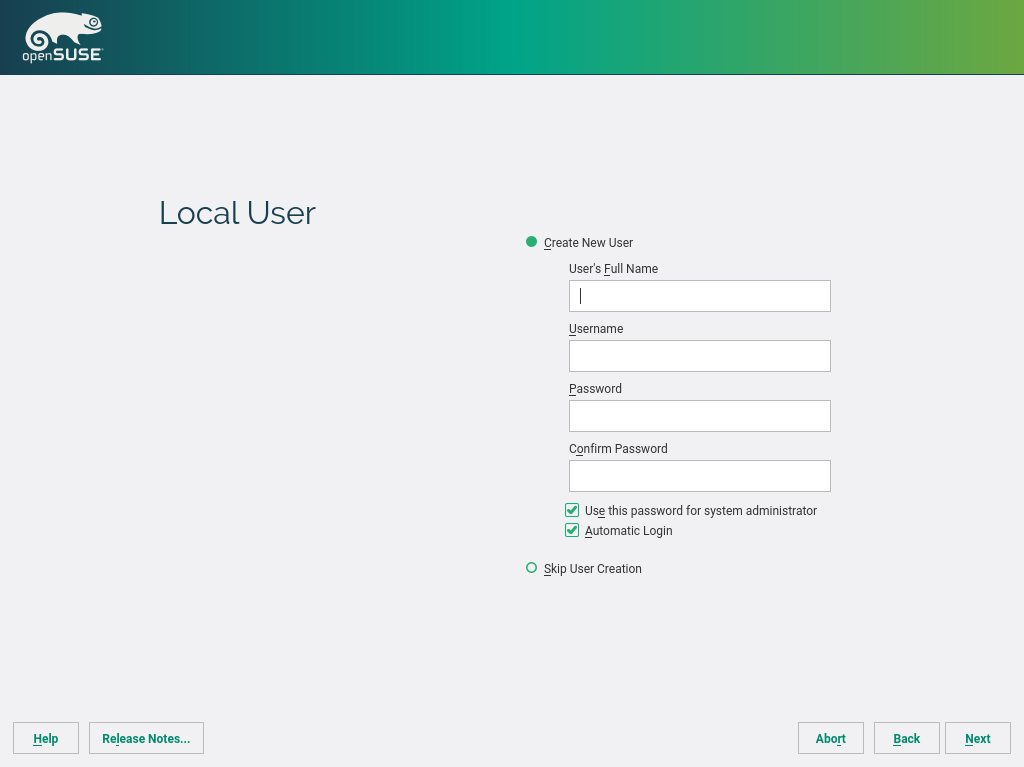 Start-Up | openSUSE Leap 42 3